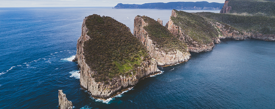 Aerial view of Cape Huay on the Tasman Peninsula