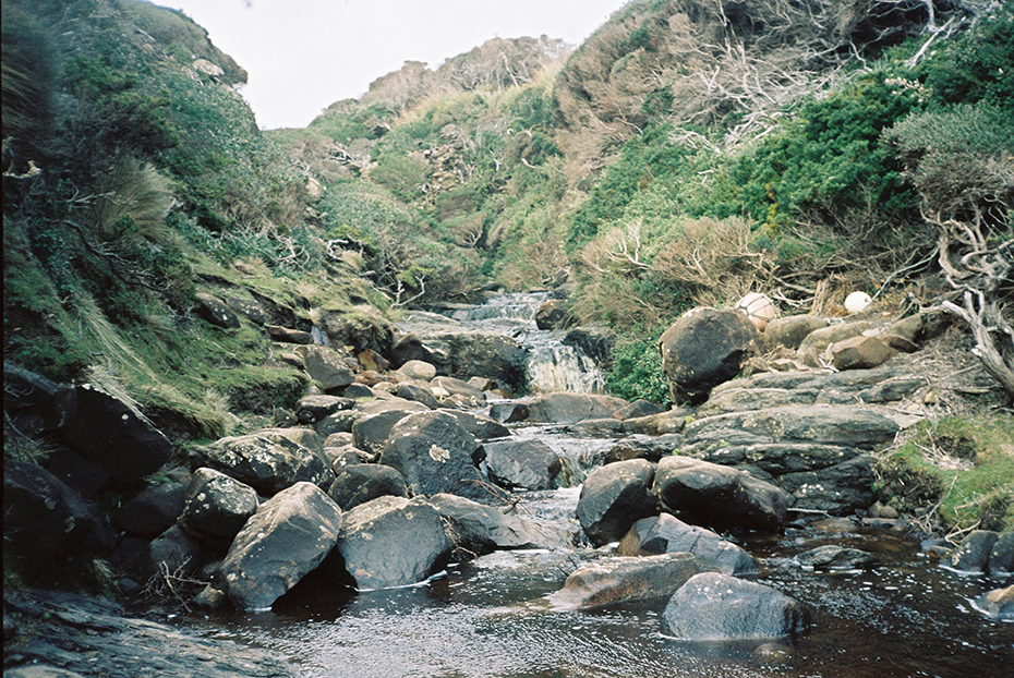 A river leading away from Granite Beach