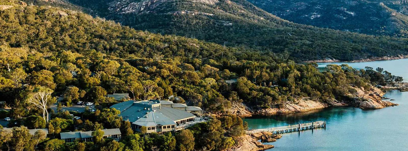 Aerial view of Freycinet Lodge